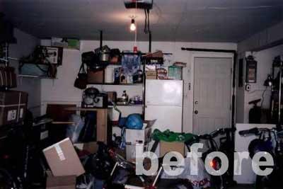 Home Organization CT - Before organizing garage