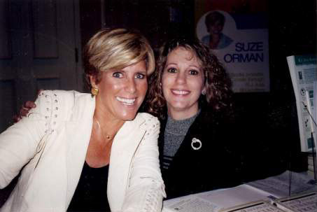 CT Professional Organizer Susan Lovallo  with Suze Orman