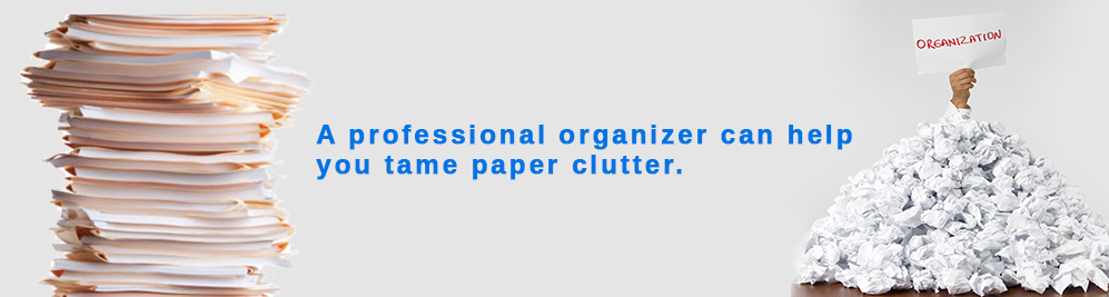 A CT professional organizer can help you tame paper clutter.