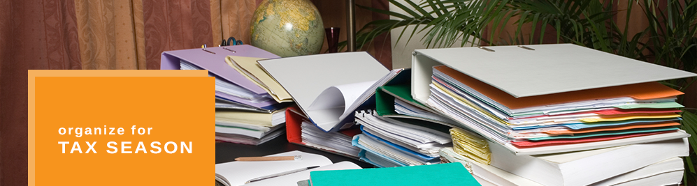 Clutter Solutions organizing for tax season.